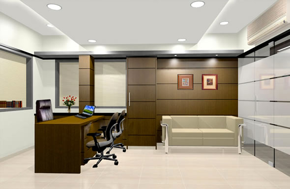 Corporate office interiors relyway india interior for Director office room design