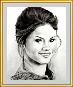 Dry brush Portrait, oil colour on Paper