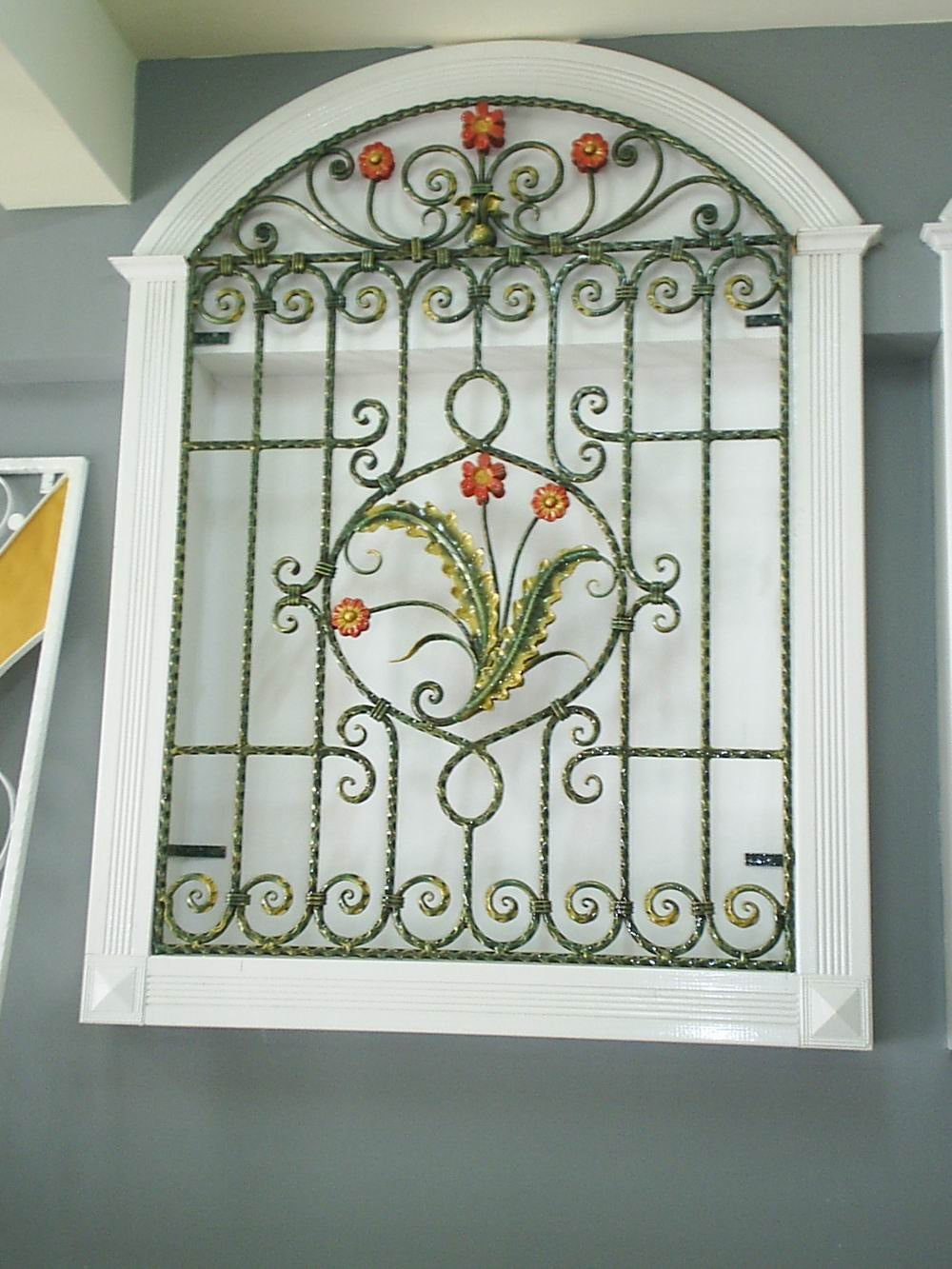 Decorative wrought iron window grills quotes for Fancy window design