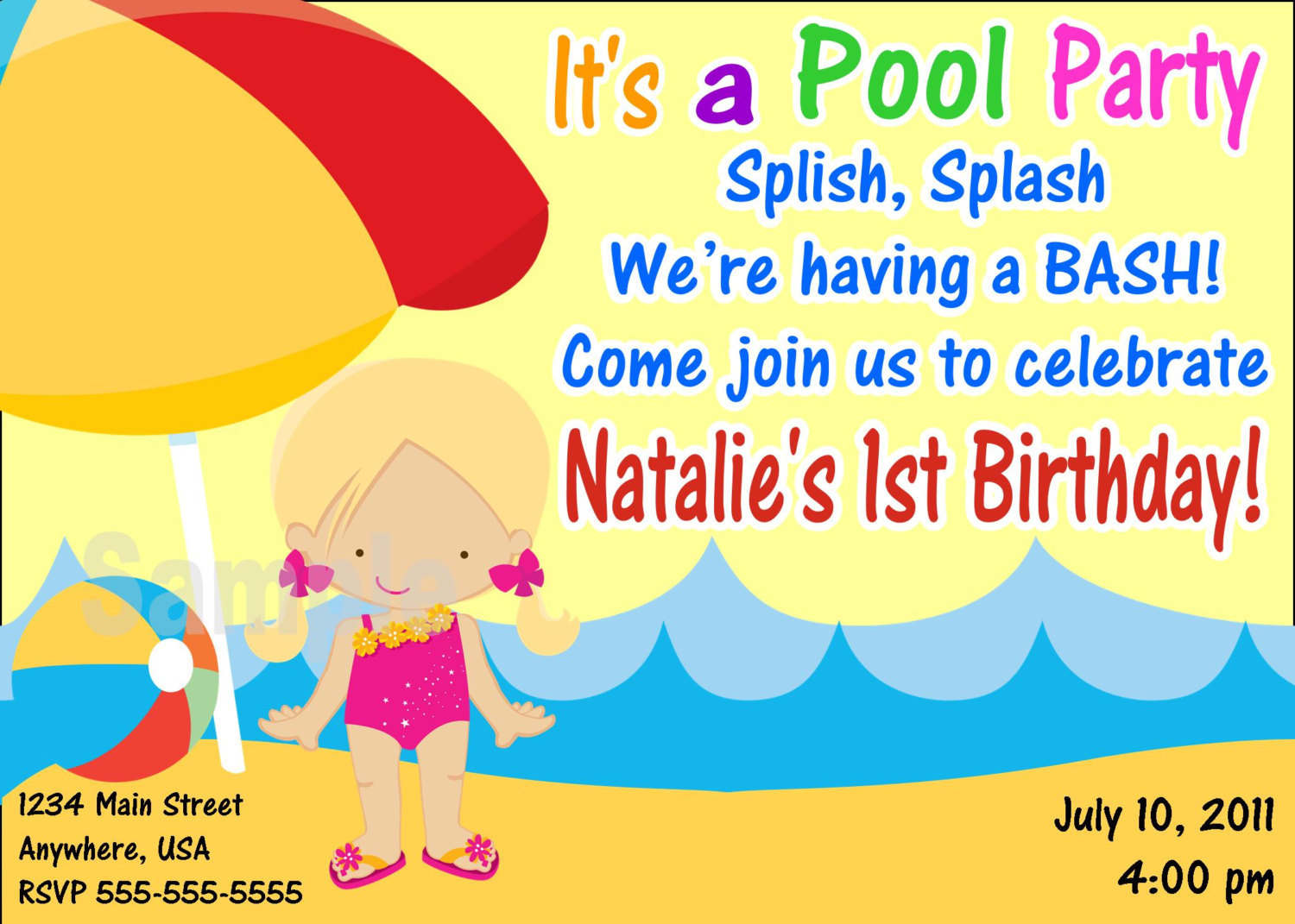 pool party invitation template printable com pool party invitation template