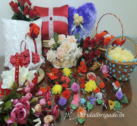Wedding accessories made to your theme colour by Bridal Brigade Bangalore