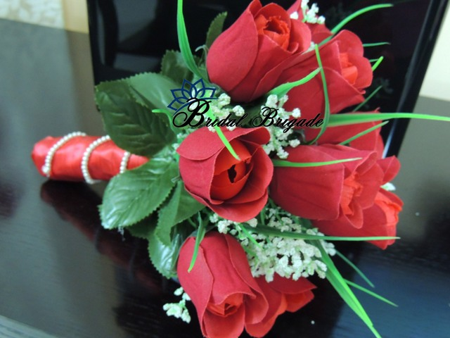 Red Bridal Bouquet from Bridal Brigade