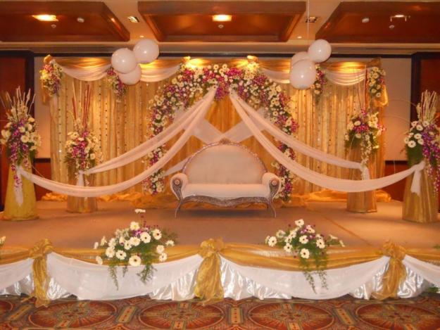 Latest fashion trends reception mandap decoration for Artificial flower decoration mandap