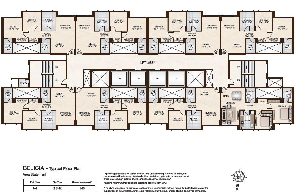 Hiranandani zen powai floor plan for Zen house floor plan