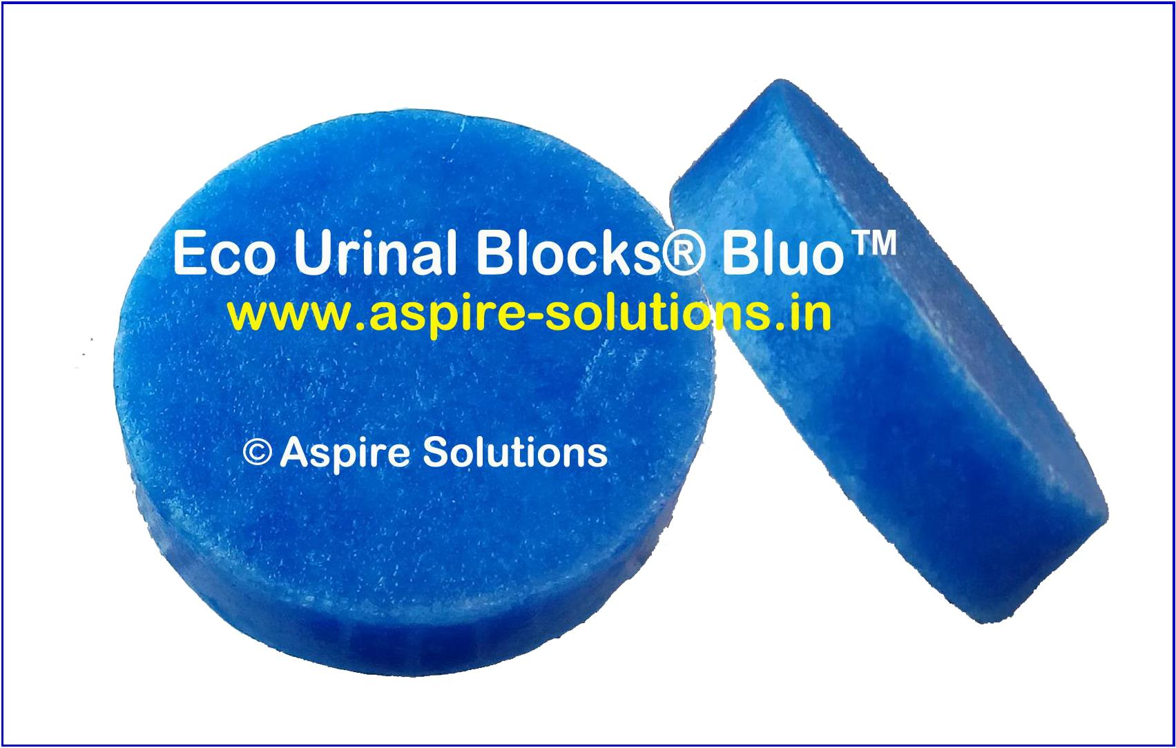 Eco Urinal Blocks® Bluo™, Bio Urinal Blocks, Biological Blocks, Bio Urinal Cubes, Bio Cubes, Urinal Screens, Waterless Urinal Blocks, Bio Blocks for urinals