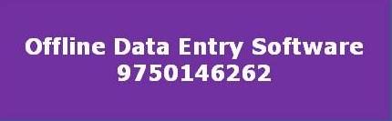 Offline Data Entry Software