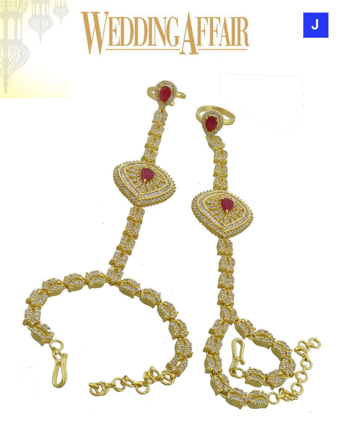 Haath Phool For Bridal Jewellery