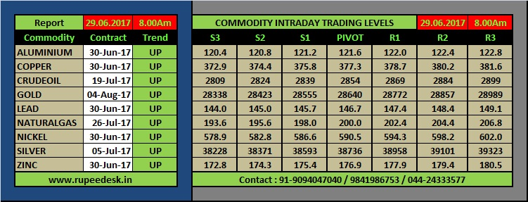 Mcx Commodity Support and Resistance Level