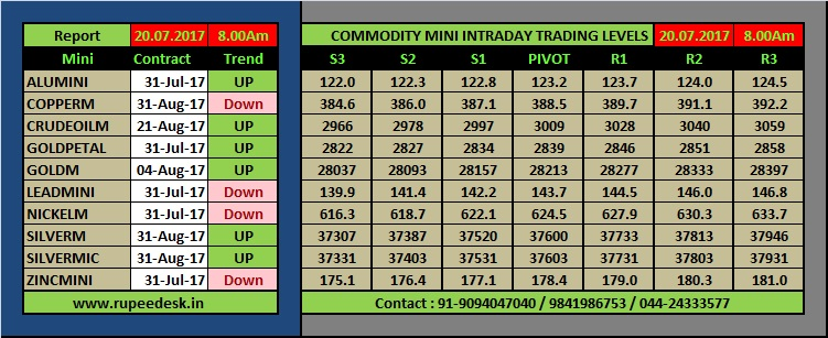 Commodity Mini Tips