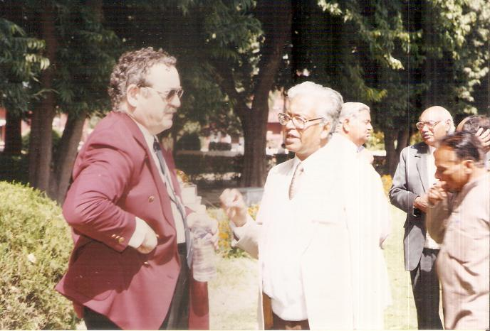 Prof W Kiefer and Prof T N MIsra in Meerut College in Feb 1999