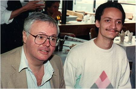 Prof. Alfano and Peter Delfyett