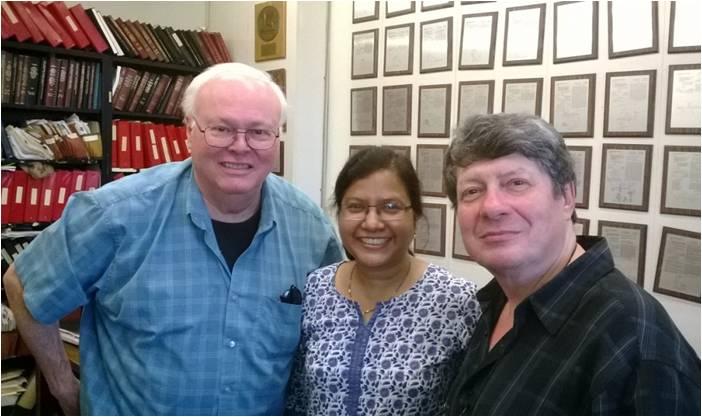 Prof Alfano (left) in his office at IUSL
