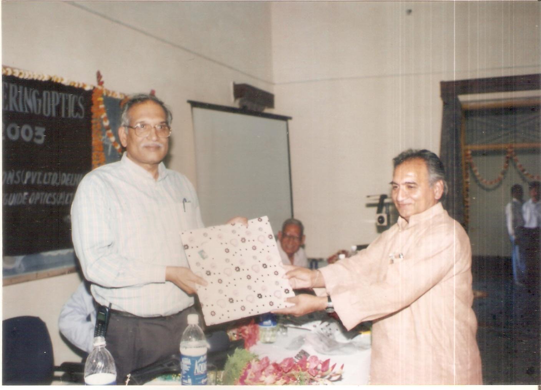 Prof R S Sirohi and V K Rastogi