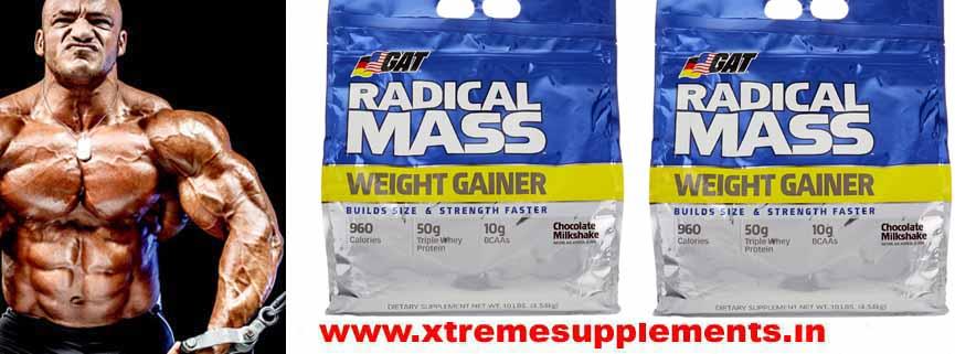 GAT RADICAL MASS WEIGHT GAINER 10 LBS PRICE INDI