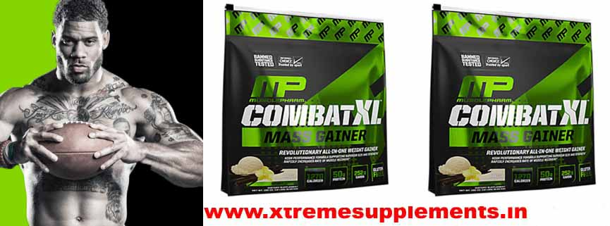 100% AUTHENTIC MUSCLEPHARM COMBAT XL MASS GAINER 12 LBS PRICE INDIA