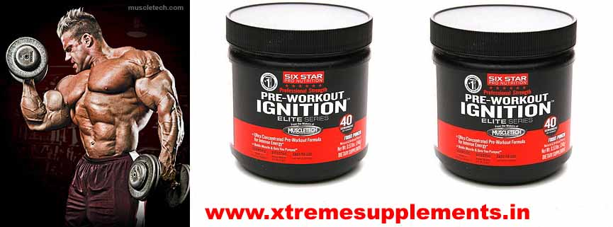 MUSCLETECH SIX STAR PRE WORKOUT IGNITION ELITE SERIES 240 GMS