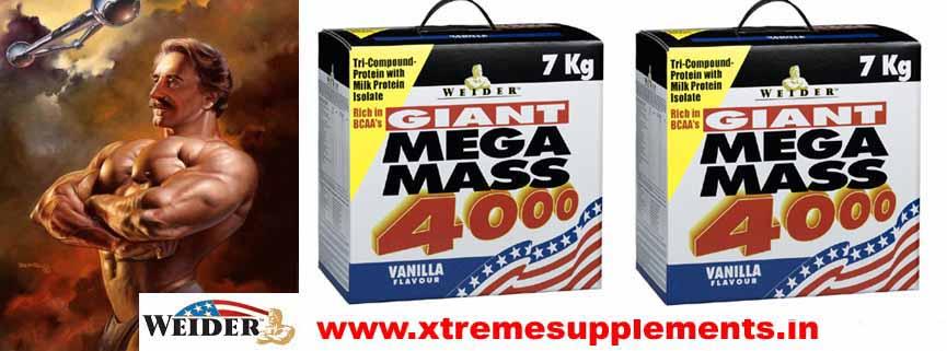 WEIDER GAINT MEGA MASS 4000 7kg