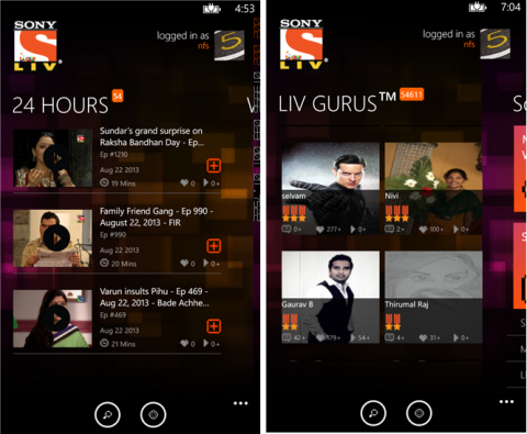 how to download episode from sony liv app